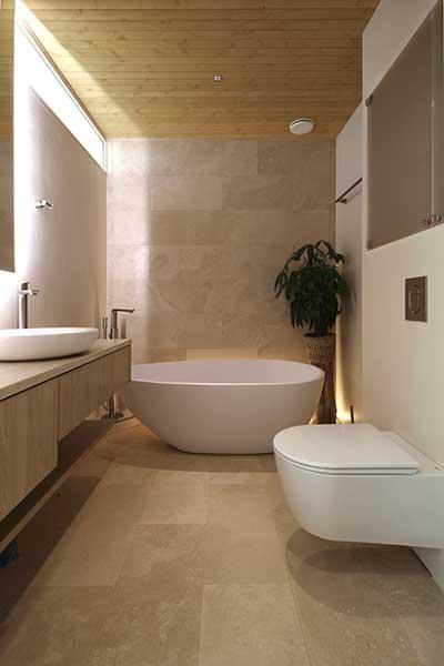 Deco-Cire mikrosementti kylpyhuoneessa