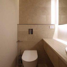 Deco-Cire mikrosementti wc-tilassa